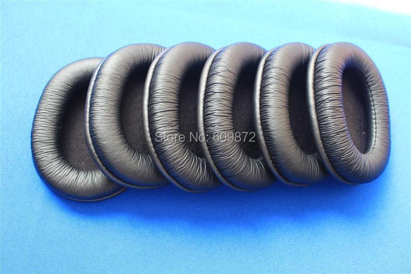 Linhuipad 5 pares = 10pcs Almohadillas para los oídos de cuero Almohadillas para oídos Almohadillas de esponja duraderas que se ajustan a SONY MDR-7506, V6, CD900ST
