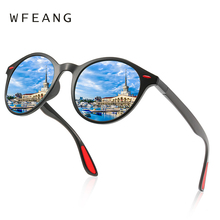 WFEANG Brand DESIGN Men Women Classic Retro Rivet Polarized Sunglasses Design Oval Frame UV400 Protection De Sol