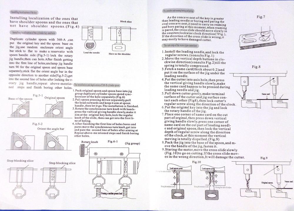 Defu Márka 998c modell Kulcsvágógép vágógombok Lakatos - Kézi szerszámok - Fénykép 5