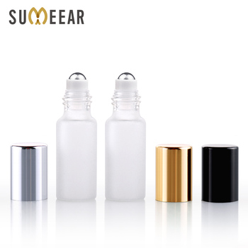 100 Pieces/Lot 5ml Mini Refillable Perfume Bottle Frosted Glass Roll On Essential Oil Vial Travel Empty Perfume Sample Bottle 1g 99 9% zirconium metal piece s in glass vial element 40 sample