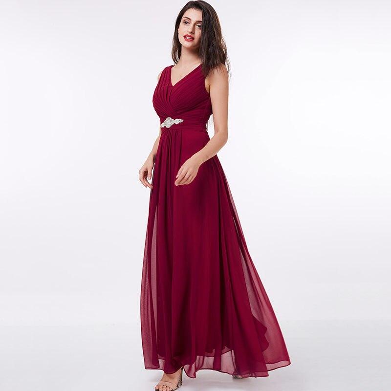 Tanpell lång v-halsa klänning billig sexig svart Golvlängd - Särskilda tillfällen klänningar - Foto 2