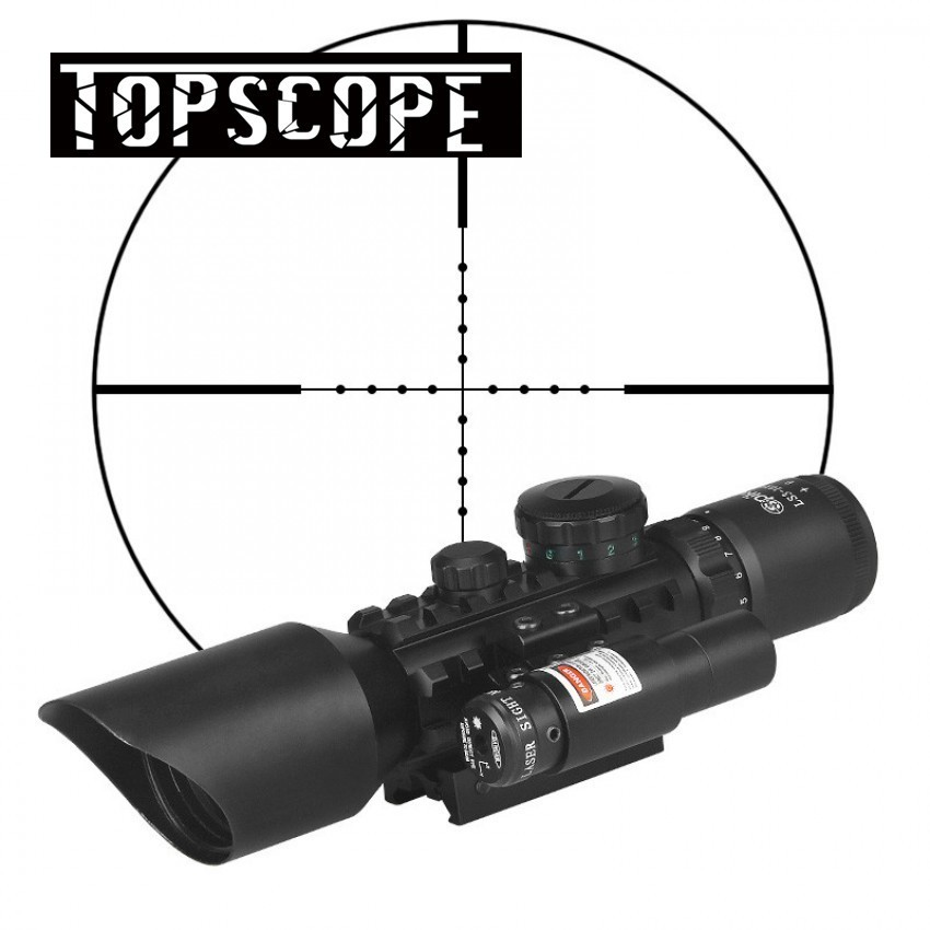 Tactical 3-10x40 Hunting Riflescope Red/Green Dot Laser Scopes 20mm Rail Sniper Optics Reflex Airsoft Air Guns Holographic Sight tactical 3 9x40 3 in 1 red dot reflex riflescope with 20mm dovetail red laser optics sniper scope sight for hunting