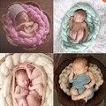 13 colores recién nacido 250 g lana cuerda toque la foto Props telón de fondo bebé fotografía proposición ganchillo hechos a mano punto de vestuario