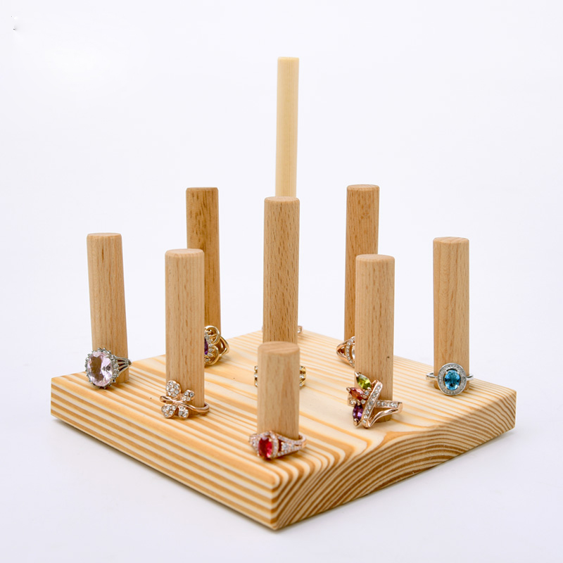 Wood Ring Display Holder Jewelry Tray Jewellery In Packaging From Accessories On