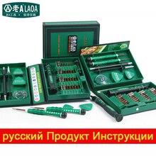 Laoa juego de destornilladores 38 in1 herramientas de reparación kit de herramientas de precisión de acero de aleación s2 ferramentas herramientas para el teléfono celular iphone 4, 4s, 5, 5S, 6 PSP
