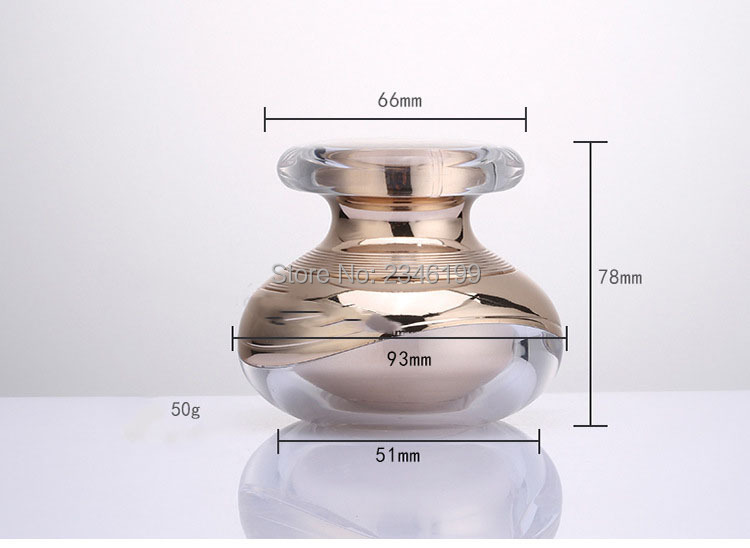 Acrylic Cream Jar 50g Rose Gold Lotion Pump Bottle Emulsion Pump 100ml Acrylic Cosmetic Container Empty Cosmetic Packaging (4)