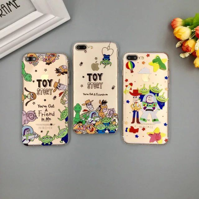 Hot sale Cute Cartoon Toy Story Monsters Transparent Soft TPU Back Cover for iphone 6 6s