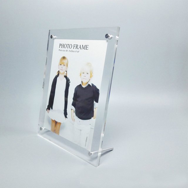 Acrylic Sign Holder with Standoff Hardware, Slant Back PF002 1-in ...
