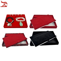 Display Jewelry Tray Store Accessories Counter Pad For Gold Jewellery Ring Earrings Necklaces Casket 25 20CM