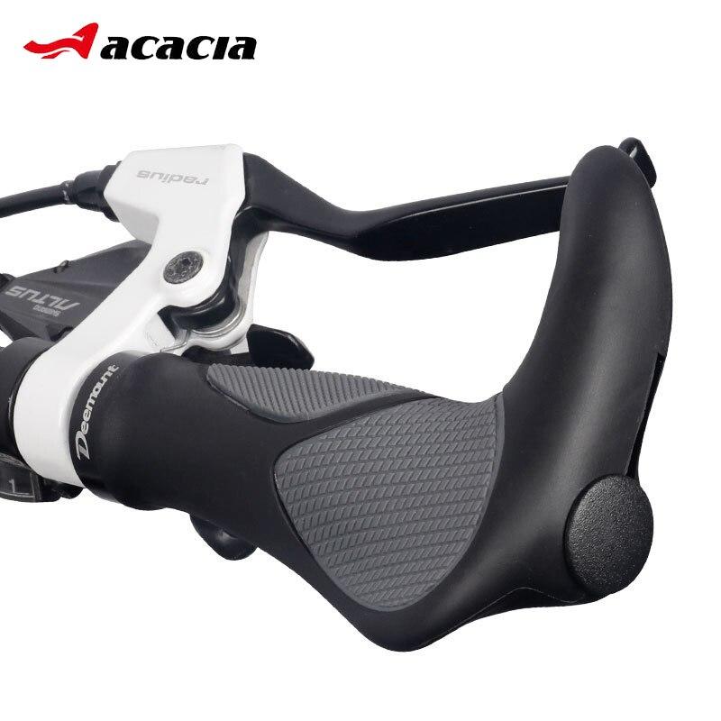 Anti-slip Absorção de Choque Da Bicicleta do Guiador Grips Apertos Alça Ergonômica para MTB Road Bike Ciclismo Apertos De Mão de Borracha Se Encaixa 2.2 centímetros