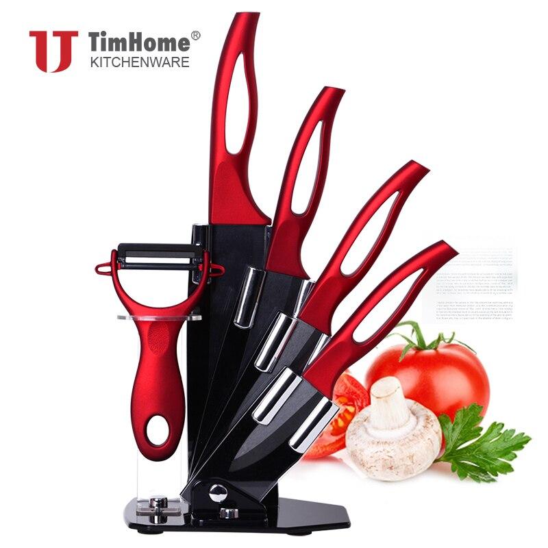Timhome zirconia coltello da cucina in ceramica set 6