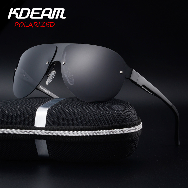 KDEAM Exercice lunettes de Soleil Hommes Polarisée UV Protection Lunettes  de Soleil mode Haute Qualité Marque Designer Cool Conduite Lunettes Pilote f8ad6526faed