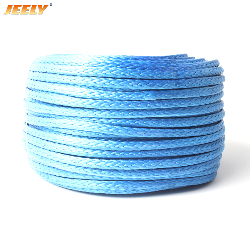 Free Shipping 5MM 10M  Winch Line UHMWPE Fiber Hollow Braid Rope For 4WD 4x4 ATV UTV Boat Offroad