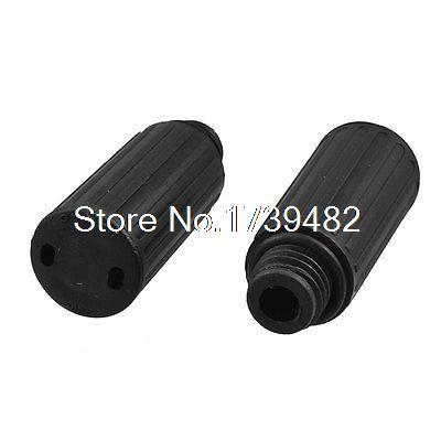 15mm Male Thread Dia Black Plastic Air Compressor Oil Plugs 2 Pcs 5 pcs 0 78 thread black plastic compressor silencer