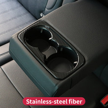 For Mercedes Benz  ML320 350 GLE coupe c292 W166 350d GL450 x166 GLS amg Interior carbon rear Water glass holder cover trim
