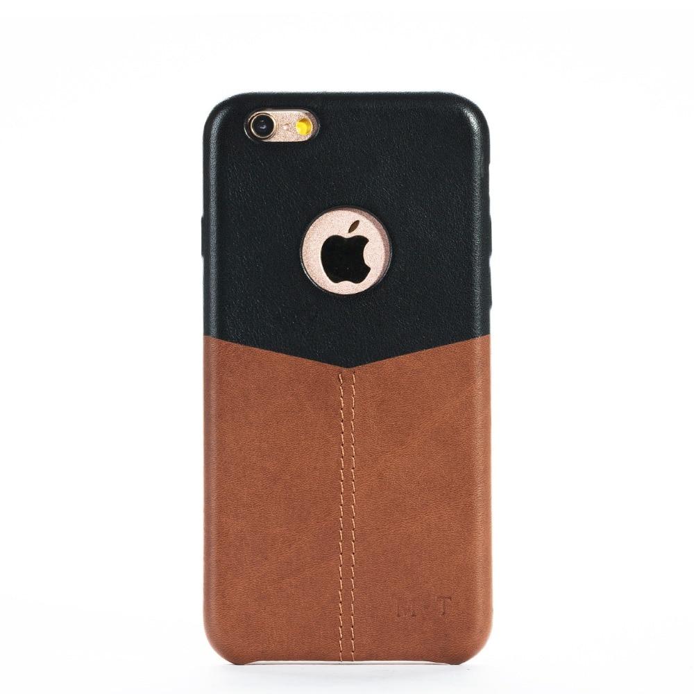 Coque de téléphone mince en cuir véritable de haute qualité faite main pour iphone 6/6s avec soomth et suface