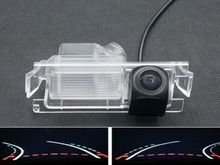 Trajectory Tracks Fisheye 1080P Car Rear view Camera for Kia K2 Rio Sedan Hatchback Ceed 2013 Hyundai Accent Solaris Verna 2014 цена 2017