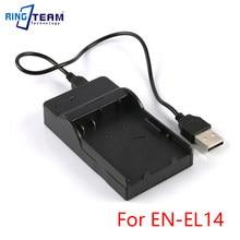 Chargeur USB EN-EL14 EL14a pour caméra Nikon, pour appareil photo, Coolpix P7800 P7700 P7100 P7000 D5500 D5300 D5200 D3200 D3300 D5100 D3100 Df