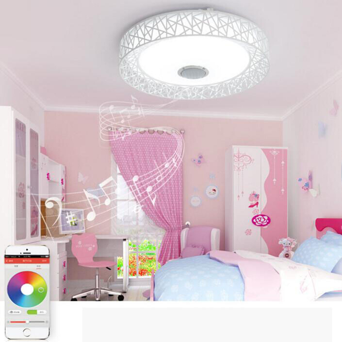 APP LED Plafondlamp Met Bluetooth speaker 24 W Muziek Party Lamp ...