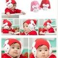 Nueva Llegada Del Bebé Infant Toddler Infantil Chicos Chica Winter Warm Flap Hat Gorro crohet Conejo Del Oído 4 Colores