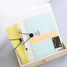 A4 Plastic File Folder Portable Document Folder with Button Transparent Filling Bag Paper Organizer Office School Supplies