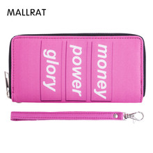 MALLRAT Women Wallet Letter Printing Pink Wallets Famous Designer Purse Female Clutch Casual Long Style Money Bag