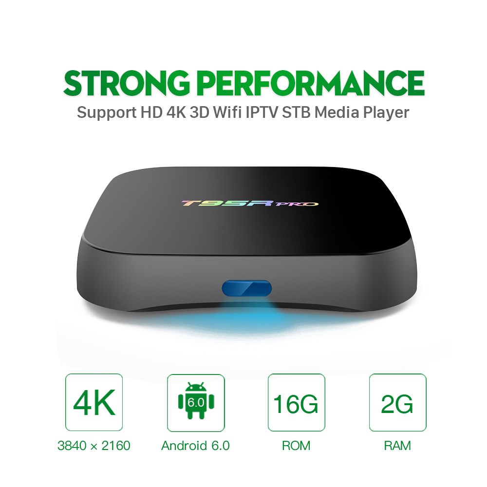 T95Rpro 2 \\ 16G Android 6.0 Smart TV Box S912 Bluetooth 4.0 HD 4 K Reproductor