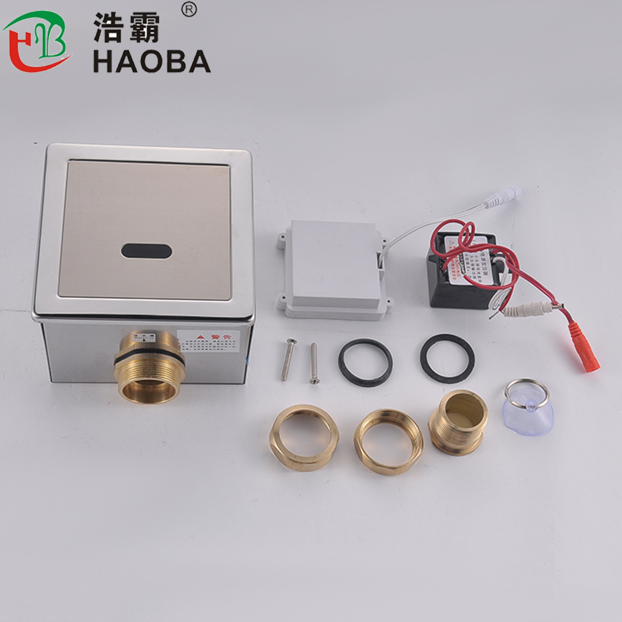 touchless automatic sensor toilet flush valve for wc Hygienic Water-saving Electronic Flusher Fpr stool flushing Urine Sensor Automatic Inductive Toilet Flush Copper Valve 8305