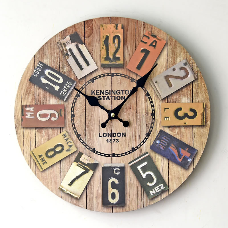 Kensington Station London 1873 Wooden Wall Clock Antique Vintage