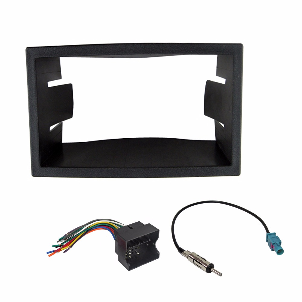 Car Radio Stereo Dash Kit Harness Antenna For 2002 2007 Vw Jetta Fiesta Fitting Fascia Panel Wiring Aerial Golf Passat Facia Plate In Fascias From Automobiles Motorcycles On