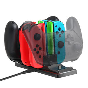 Image 2 - 6 in 1 Charging Dock Station Controller Charging Holder Stand LED Indicator for Nintend Switch Joy con Pro Controller Charger