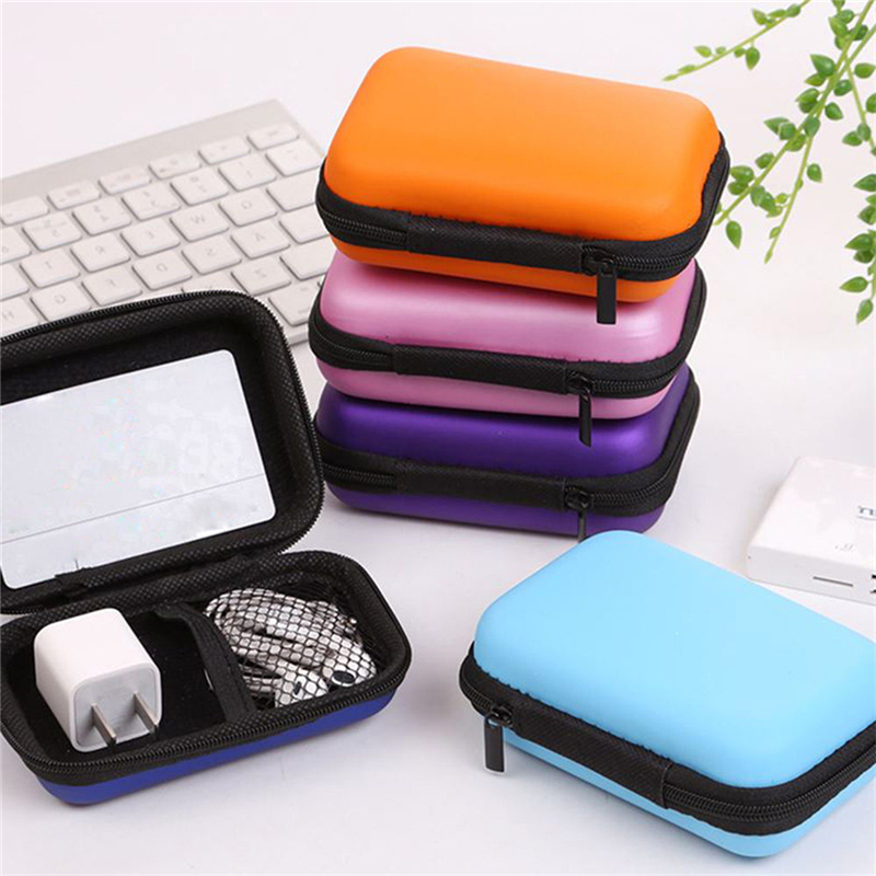 Mini Hold Case Storage Case For Headphones Earphone Earbuds Carrying Hard Bag Box Case For Keys Coin Travel Earphone Accessories