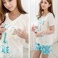MamaLove 2 PCS calça + topos de maternidade roupa de Maternidade pijamas enfermagem amamentação pijamas roupas de gravidez para As Mulheres Grávidas