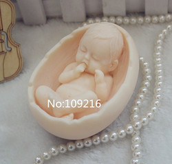 Wholesale 1pcs cradle with baby zx99 handmade soap mold crafts diy silicone mould.jpg 250x250