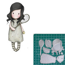 tennis new 2019metal cutting dies doll girls for scrapbooking and making paper cards