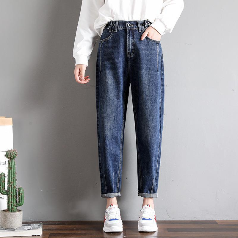 GCAROL New Women 93% Cotton Blends Pencil Denim Pants High Waisted High Street Boyfriend Style Jeans In 3 Colors Plus Size 26-32 9