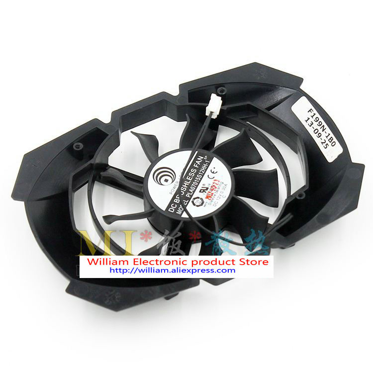 Original MSI Palit GTX650 NVIDIA Power Logic PLA07015S12HH-1 12V 0.30A graphics card cooling fan 75mm power logic pld08010s12hh 4pin cooling fan for msi gtx 560 570 r6950 gtx460 gtx 560 twin frozr ii graphic card cooler fan