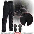 Black Men's Motorcycle Pants Armor Jeans Motocross KTM Protection Racing Pants Motorcycle Trousers Knee Protective Sportswear