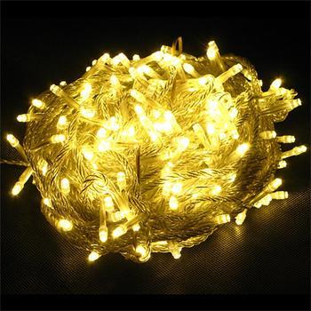 Luces de cadena de hadas blancas cálidas fiesta de Navidad árbol de boda jardín 300LED 32m