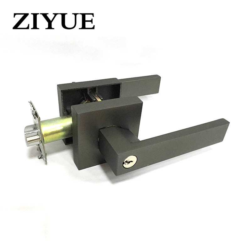 Free Shipping Black Zinc Alloy Wooden door Handle Door Lock Rod Lock for Home Office free shipping ptfe stir rod for overhead stirrer