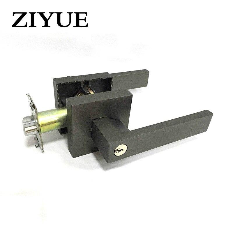 Free Shipping high quality Black Zinc Alloy Wooden door Handle Door Lock Rod Lock for Home Office цены
