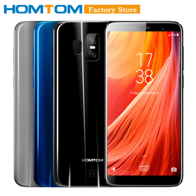 "HOMTOM S7 5.5"" 18:9 Bezel-less Full Screen 4G Mobile Phone 3GB RAM 32GB ROM MTK6737 Front 8MP Back Dual 13+2MP Cam Smartphone"
