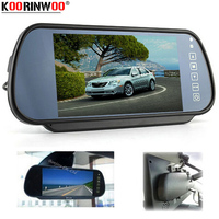 Koorinwoo Auto Monitor 7 Colorful TFT LCD 800*480 Car Rearview Mirror Monitor High Resolution RCA AV Video System For Reversing