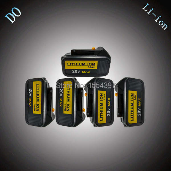 5PCS 5000mAh Li-ion Power Tool Rechargeable Battery Replacement for DEWALT 18V DCB180 DCB181 DCB182 DCB200 DCB201 DCB203 DCB204 18v 6000mah rechargeable battery built in sony 18650 vtc6 li ion batteries replacement power tool battery for makita bl1860
