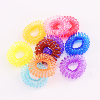 10PCS/Lot New 2cm Small Telephone Line Hair Ropes Girls Colorful Elastic Hair Bands Kid Ponytail Holder Tie Gum Hair Accessories 1