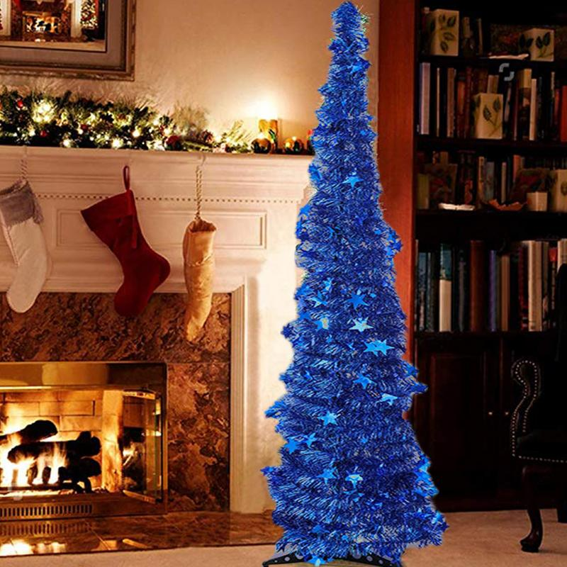 Artificial Tinsel Pop up Christmas Tree with Stand Gorgeous Collapsible  Artificial Christmas Tree for Christmas Decorations -in Trees from Home &  Garden on ... - Artificial Tinsel Pop Up Christmas Tree With Stand Gorgeous