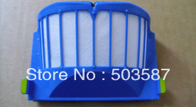 Free shipping!  5pcs New blue dust filter for Roomba AeroVac 550 551 Vacuum cleaner Robotics!