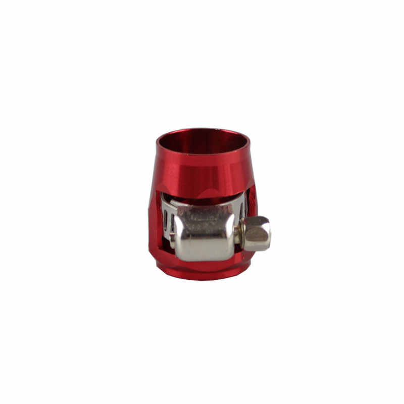 RASTP-AN6 16 Mm Push Lurus Ujung Selang PENUTUP CLAMP Adaptor Aluminium Anodize Fitting RS-TC008-AN6
