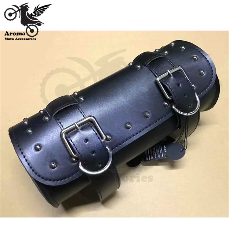 2 colors available brown black PU Leather part motorcycle luggage bag for harley cruise moto head tail bags motorbike saddle bag