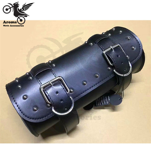 25d88f7a479e 2 colors available brown black PU Leather part motorcycle luggage bag for  harley cruise moto head